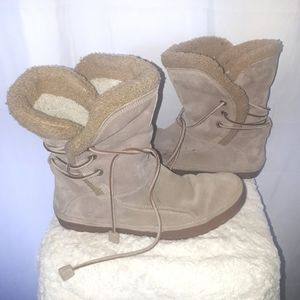 Timberland Beige Leather Lounger Boot